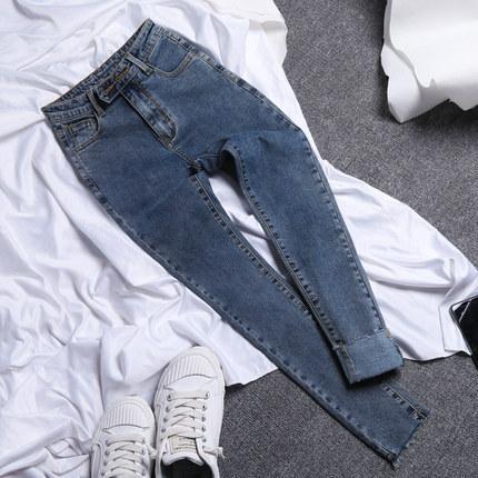 quần Jean  Quần jean nữ 2019 thu đông mới eo cao giảm béo đã mỏng và hoang dã