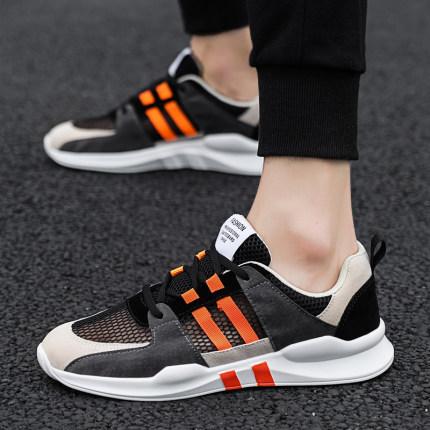 Giày GuangDong  Giày một lớp lưới hè trung học thể thao giày nam nam học sinh giày chạy bộ Quảng Đôn