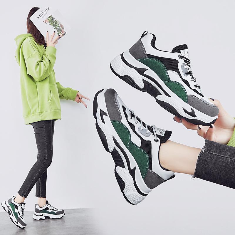 Giày GuangDong Xu hướng mùa xuân 2020 giày nữ thời trang nữ sneakers nữ gấu trúc chạy giày hoang dã