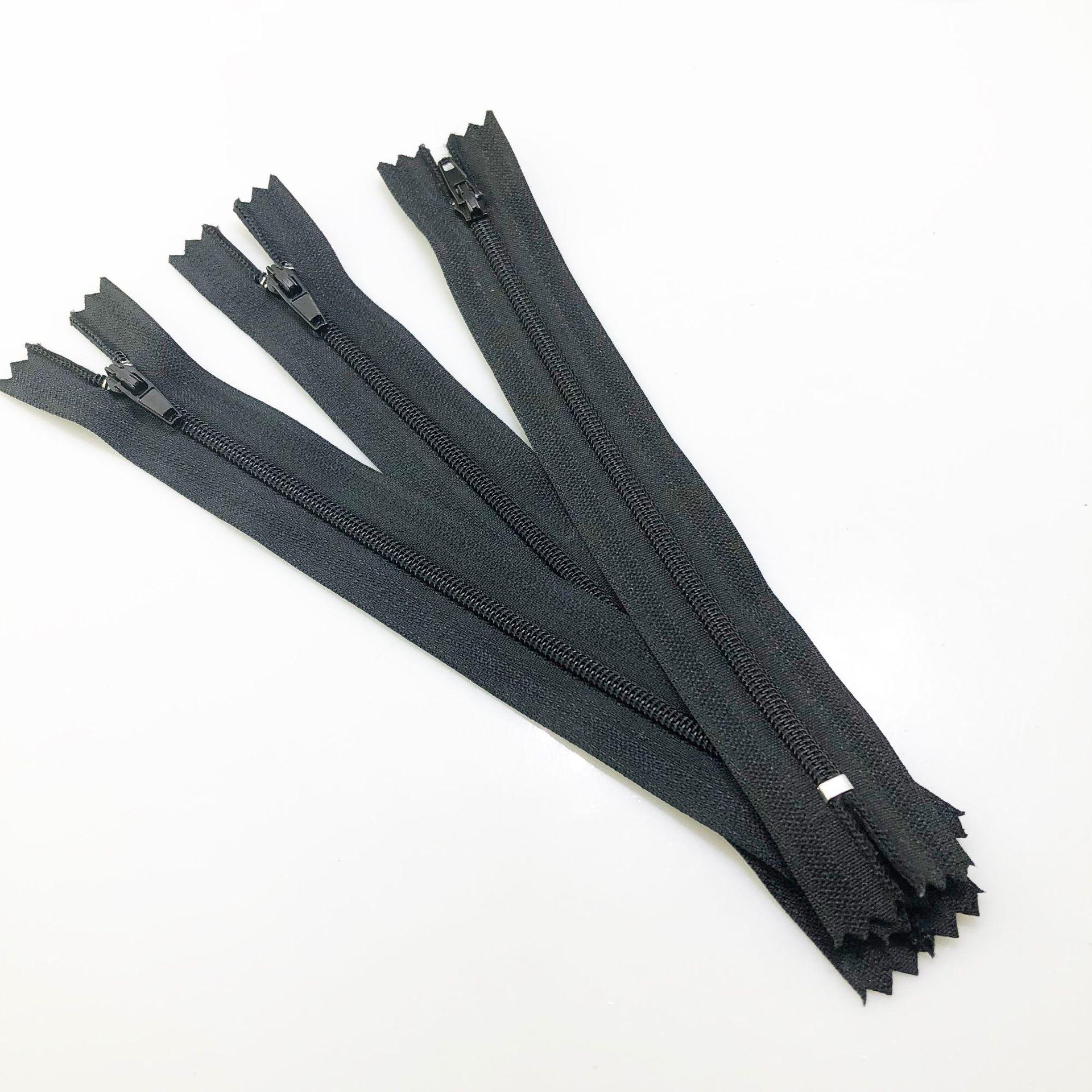 Dushun Dây kéo Nylon dây kéo 3 # đen đôi kim nylon dây kéo màu dài có thể được tùy chỉnh