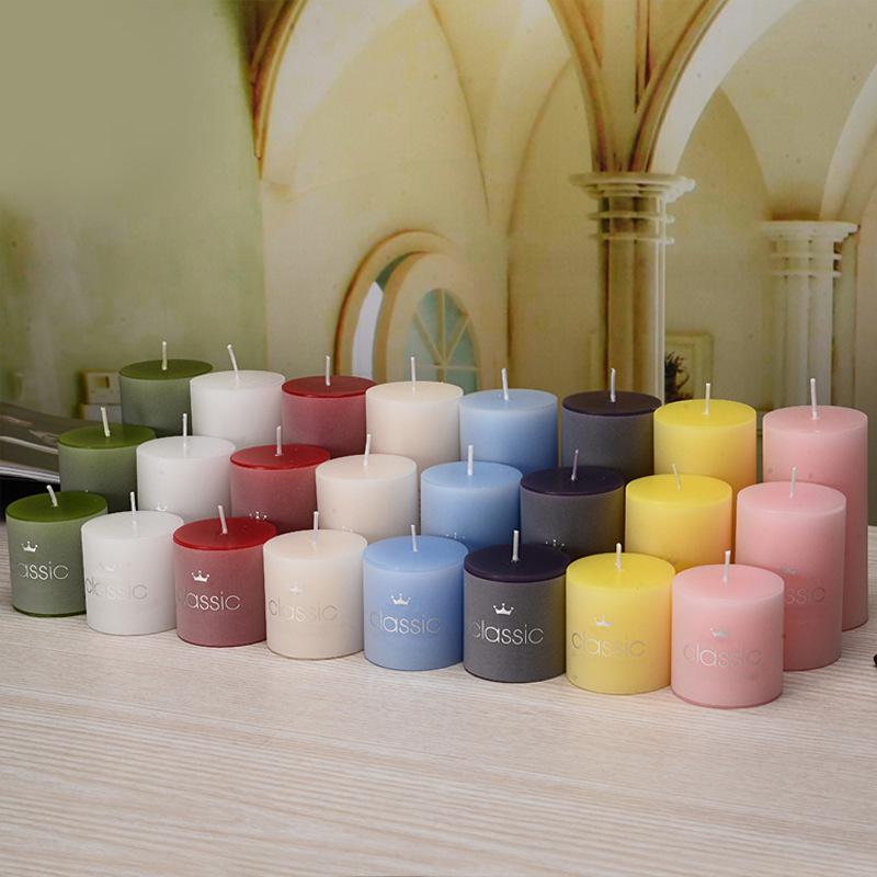 Best candle NLSX Nến Nến thơm cổ điển sinh nhật hình trụ lãng mạn không khói nhỏ nến đám cưới phương