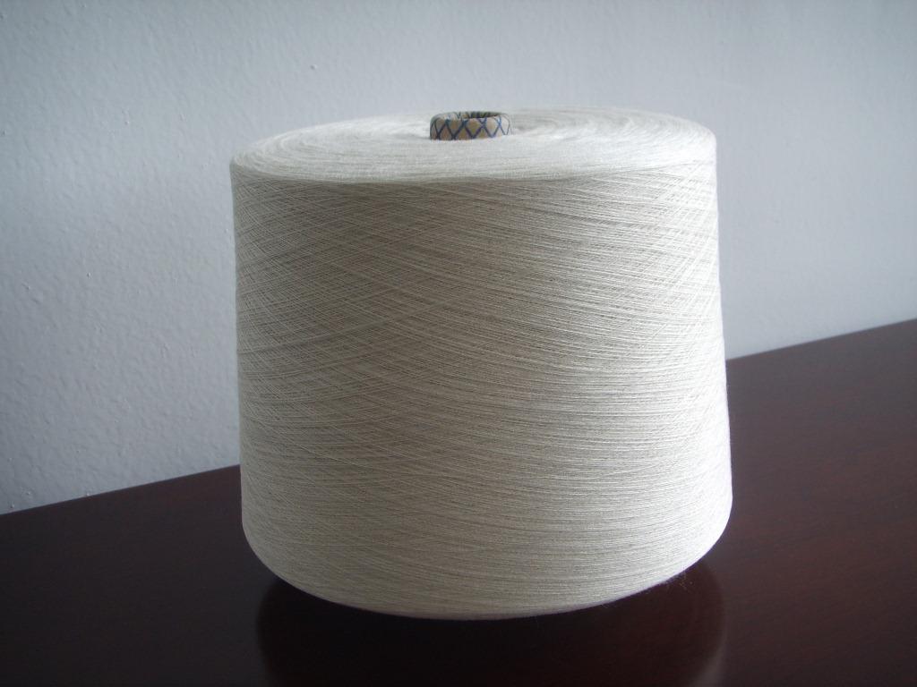 Sợi tơ lụa Sợi bông gai dầu 40S / 1 70% cotton 30% vải lanh mịn đếm sợi gai dầu
