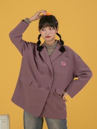 Erge Phong cách Hàn Quốc  Áo cánh nhỏ kiểu dáng đại học giản dị phù hợp với áo khoác nữ retro hương