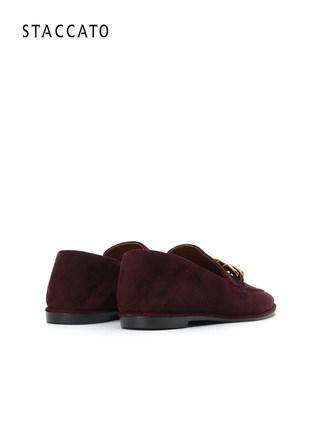 Giày mọi da nhung kiểu dáng thời trang mới cho nữ .