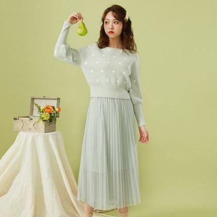 IEF Đồ Suits  Bộ đồ phù hợp với phụ nữ IEF / Love Yi 2019 mùa đông mới phiên bản Hàn Quốc của áo chấ