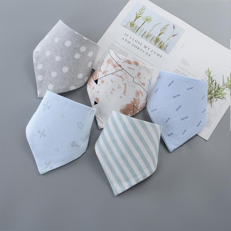 BONGDR Đồ dùng sơ sinh Khăn tam giác bé bông hai lớp khăn turban sơ sinh cung cấp cho nam và nữ bé n