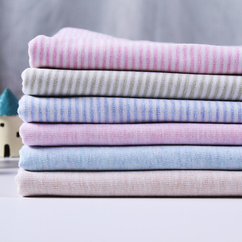 LUOYOU Vải khăn lông Khăn vải cotton màu hữu cơ, bộ đồ giường, quần áo trẻ em và trẻ em, vải sọc màu