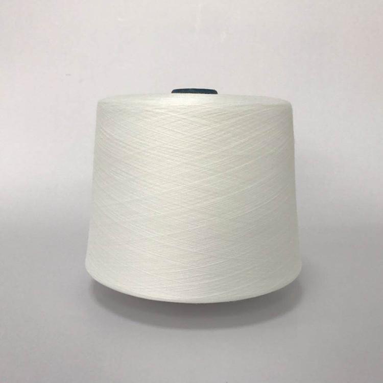 HENGZE Sợi gai Kéo sợi polyester bằng khí nén 10, sợi polyester dahua trắng này 10 sợi đơn được sản