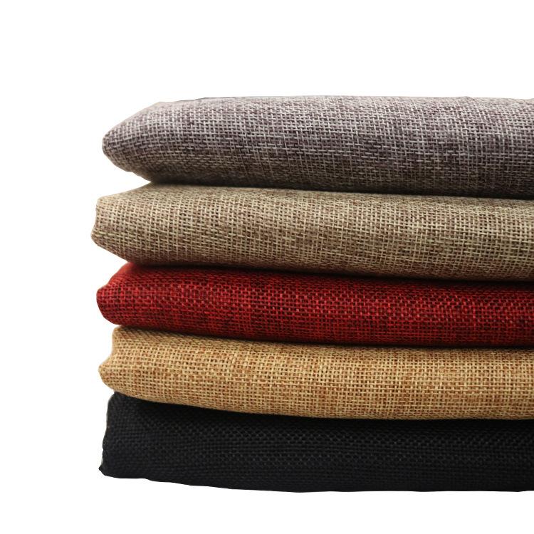 DEBL Vải Linen Spot 1200D 64 màu hai màu cation giả vải lanh Giáng sinh chùm vải polyester vải giả v