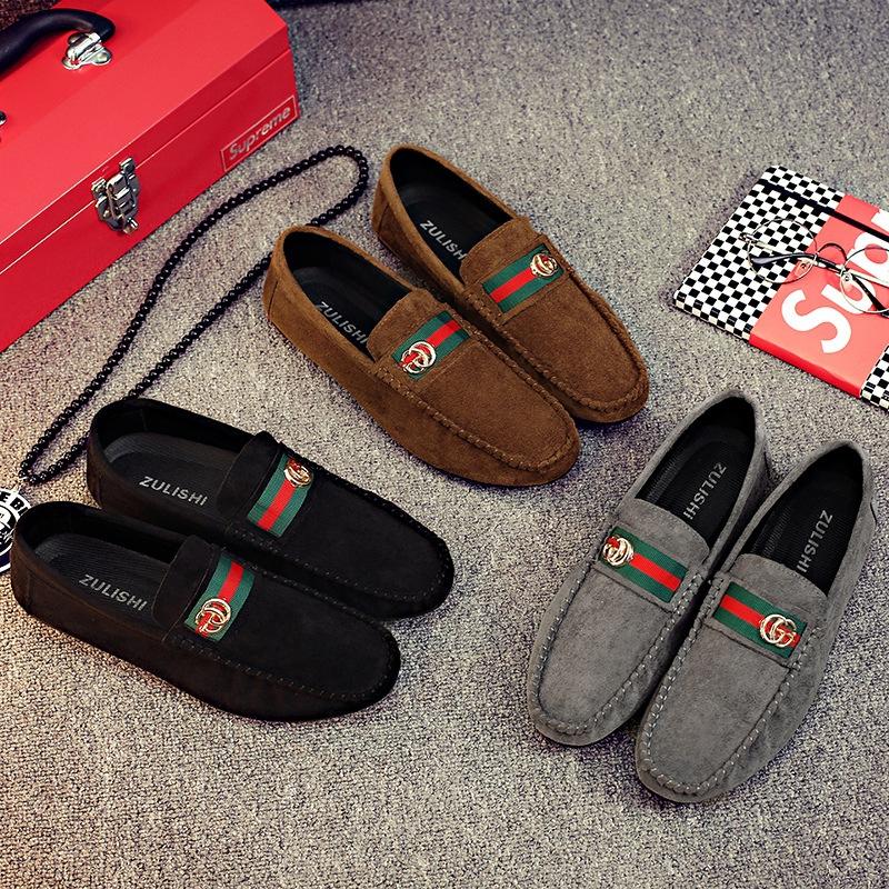 ZULISHI Giày mọi Gommino Nhà máy trực tiếp mùa thu mới beanie nam phiên bản Hàn Quốc của một bàn đạp