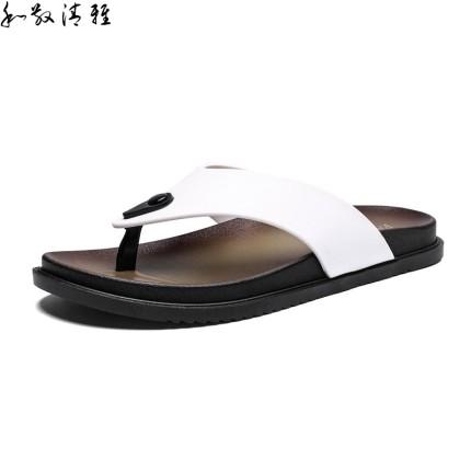 Giày GuangDong  Giày thủy triều boong bãi biển Quảng Đông 2019 mới dép xỏ ngón ký túc xá nam sinh vi