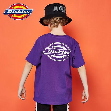 Dickies Kids Trang phục trẻ em mùa hè  Amoi Unisex Back Logo In Oversize Loose Round Cổ Mùa hè Áo th