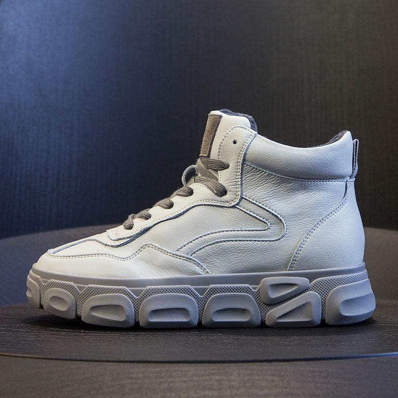 BRIEFSSOO Thị trường giày nữ Mùa đông mới 2019 cộng với giày nhung cha nữ giày thể thao giản dị đế đ