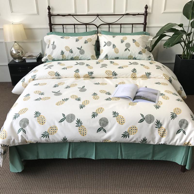 OUSE Dệt may gia dụng Khăn trải giường bằng vải bông chải kỹ