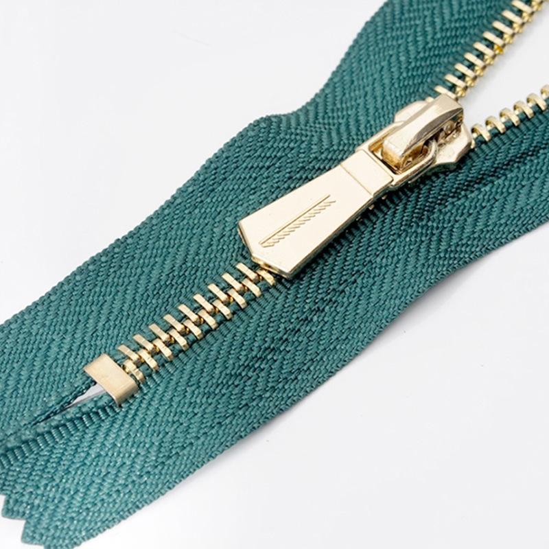 RISHUN Dây kéo kim loại Bán hàng chuyên nghiệp dây da kim loại 3 # dây đồng đóng cửa dây kéo kim loạ