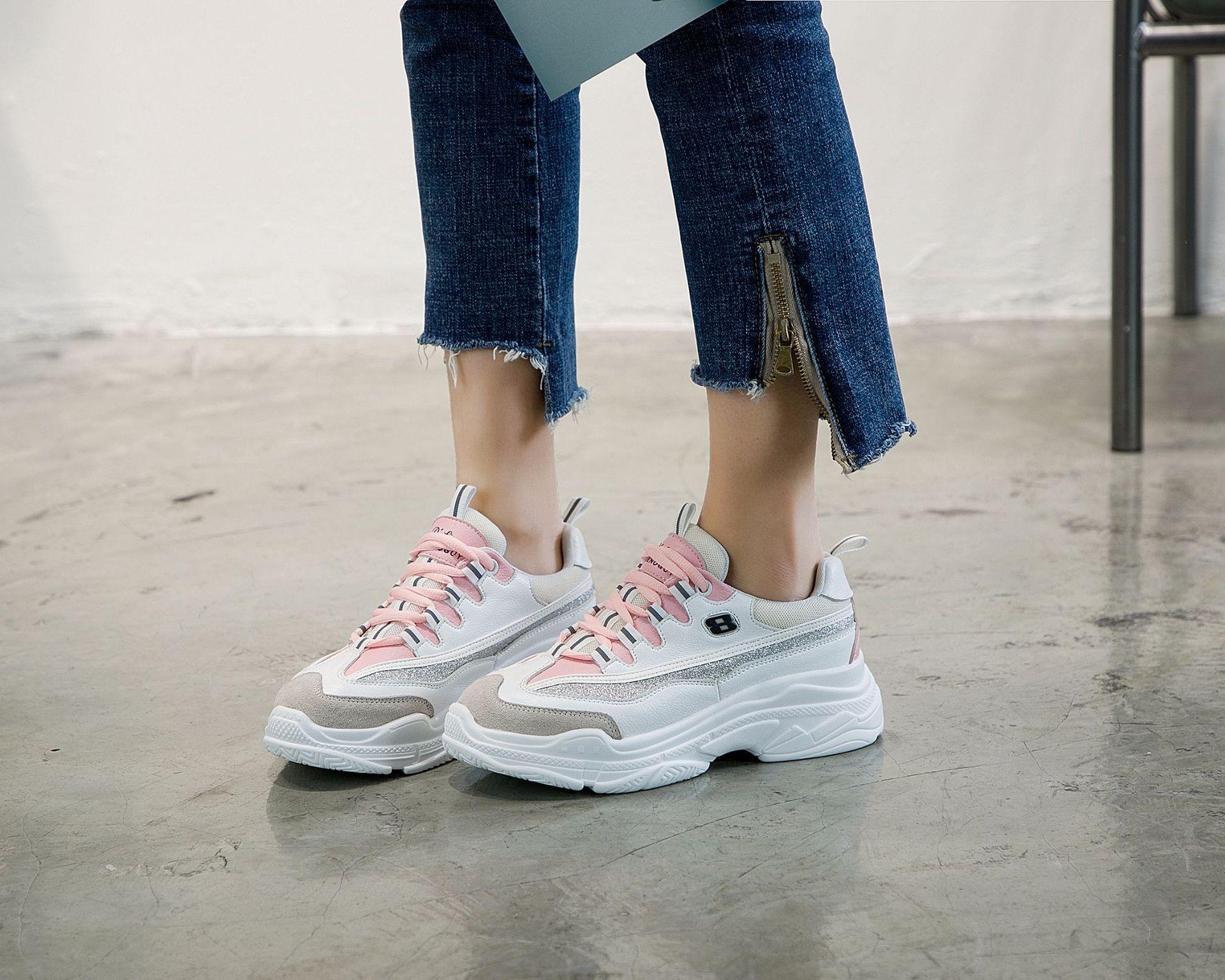 Giày lười / giày mọi đế cao Cỡ nhỏ 31 32 33 34 size dày dưới đáy lò xo bánh xốp bình thường