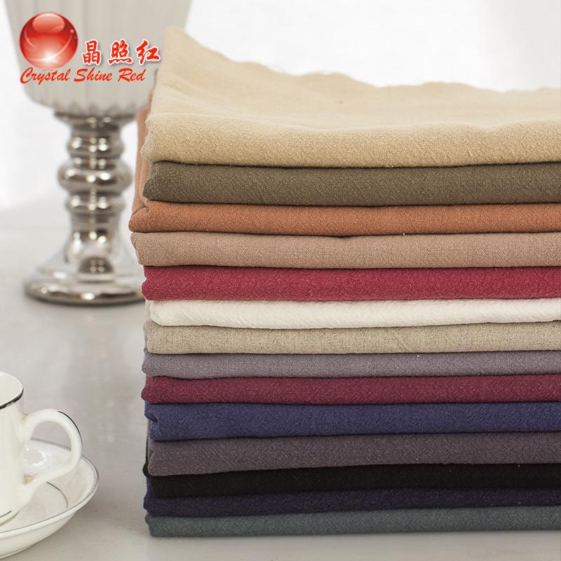 JINGZHAOHONG Vải Hemp ( Ramie) Tre lanh lanh màu vải lanh crepe vải quần áo phong cách quốc gia vải