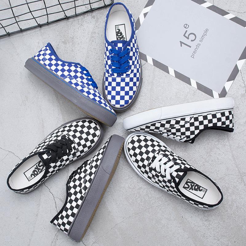 QIAOCHI giày vải Mùa xuân 2018 đôi giày mới của sinh viên giày đế bệt đế bệt hoang dã giày nữ đế bệt