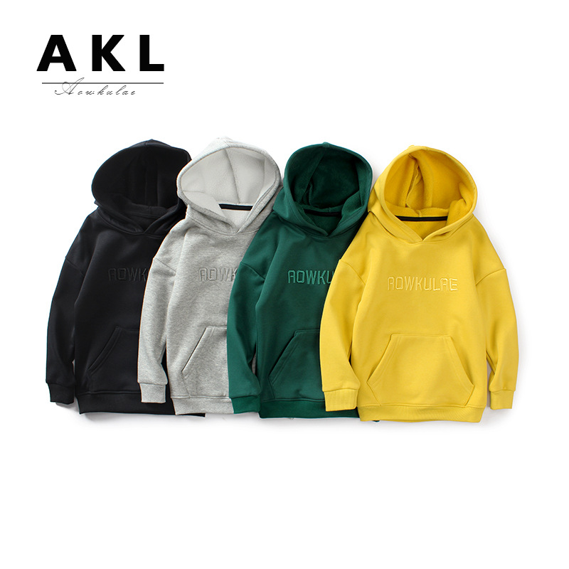 AOWKULAE Sweater (Áo nỉ chui đầu) Mùa thu đông 2019 Phiên bản Hàn Quốc của áo len trẻ em mới cho trẻ