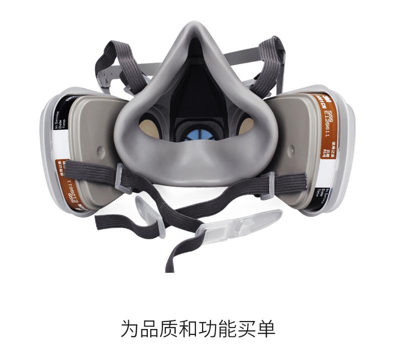 Mặt nạ phòng chống khí độc 6200 anti paint dust mask for 3M gas mask spraying chemical organic gas i