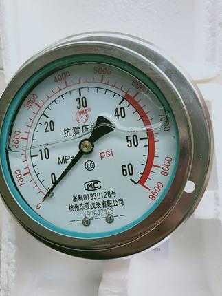 BONDHUS  Đồng hồ đo áp suất  Đồng hồ đo áp suất địa chấn trục YN100ZT 1.6MPA25 / 40 / 60MPA có khả n