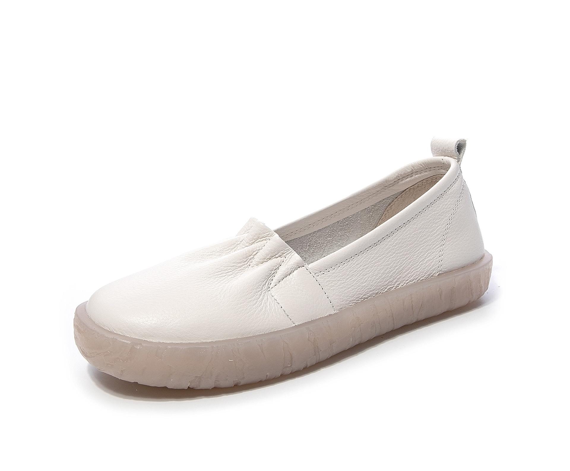 Giày da mềm đế bệt chống trượt dành cho phụ nữ
