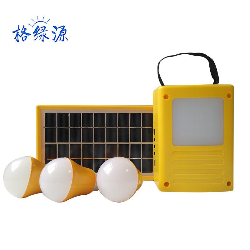 GELVYUAN Thiết bị chiếu sáng Hệ thống điện năng lượng mặt trời xuyên biên giới 3w dành riêng cho hệ