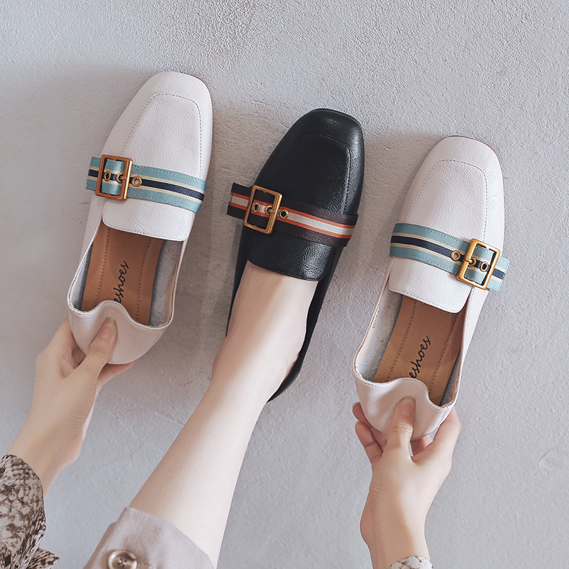 AME Giày Loafer / giày lười Giày nữ Ah Mo 2019 xuân hè mới phẳng giày cổ tích hoang dã nữ giày lười