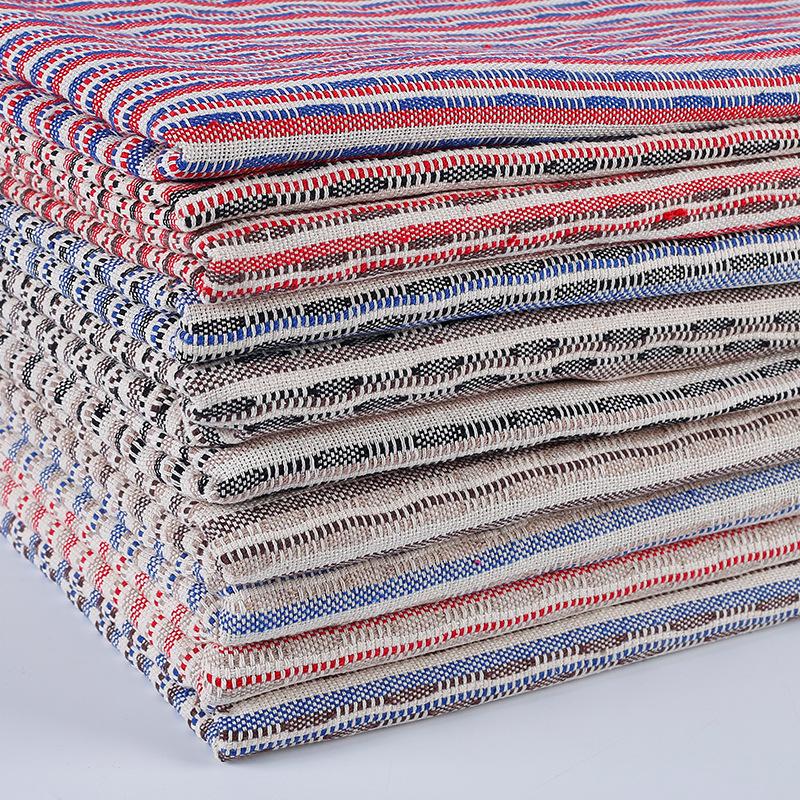 WEIZHENG Vải Yarn dyed / Vải thun có hoa văn Mô hình vụ nổ polyester bông cotton lanh sợi nhuộm nhà