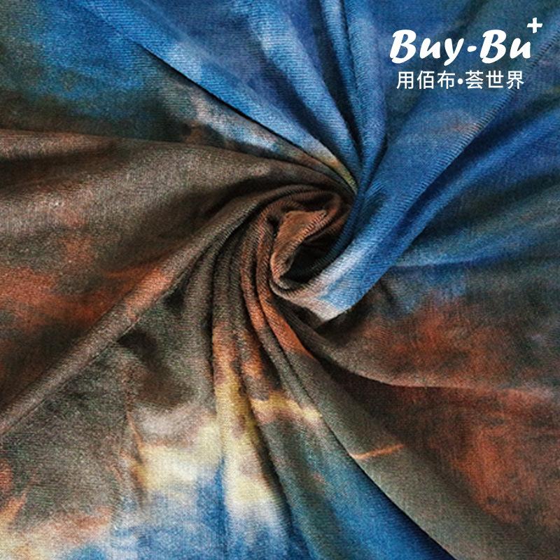 BAIBUHUI Vải Chiffon & Printing Nhà máy bán hàng trực tiếp 170g vải dệt kim tie-dyed cotton in quần