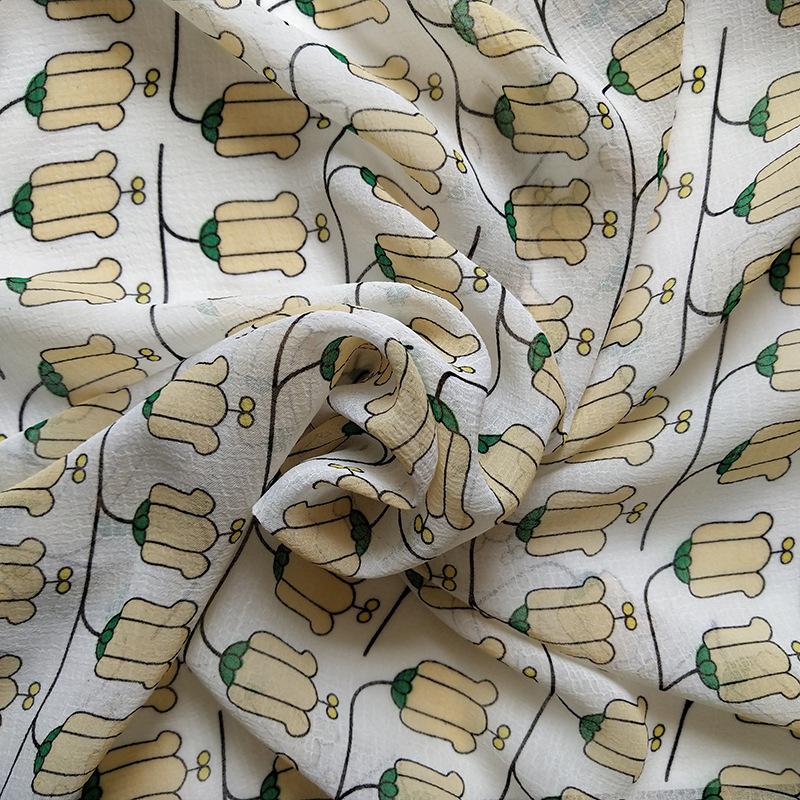 HUAYIFANG Vải Chiffon & Printing Sản phẩm mới Dệt vải In hình hoa văn Vải voan