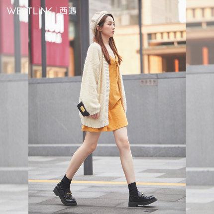 Westlink Giày da một lớp  Tây bắt gặp giày da nhỏ nữ phong cách Anh 2020 mới mùa xuân thời trang ngự