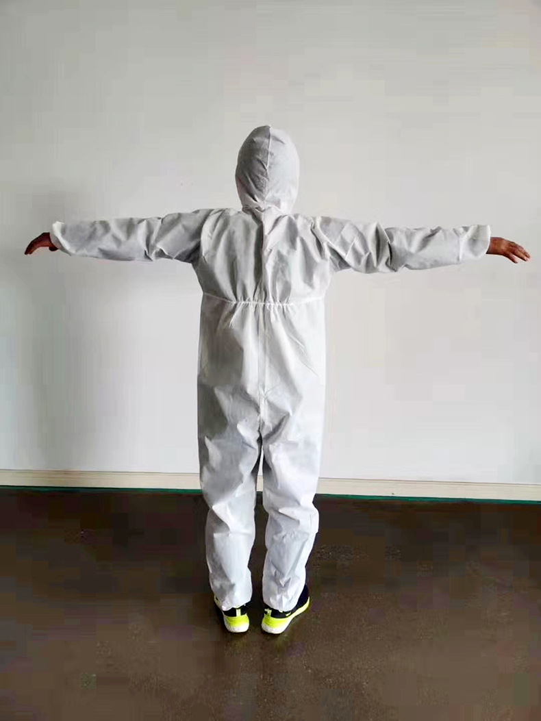 Trang phục bảo hộ Ainuan protective suit one piece with cap, full body thickened isolation suit, che