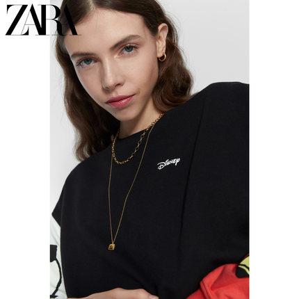 ZARA  Sweater (Áo nỉ chui đầu)  ZARA New TRF Women Wear Disney Mickey and Minnie Mouse © In áo len