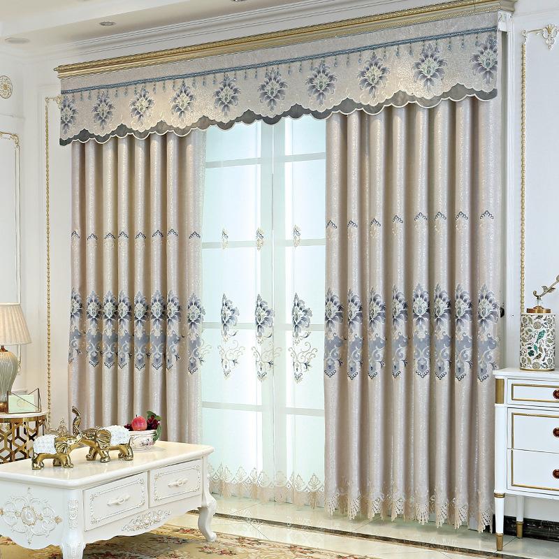 AILIANSHUO Vải rèm cửa Nhà máy bán hàng trực tiếp Trung Quốc hiện đại tối giản rèm phòng khách theo