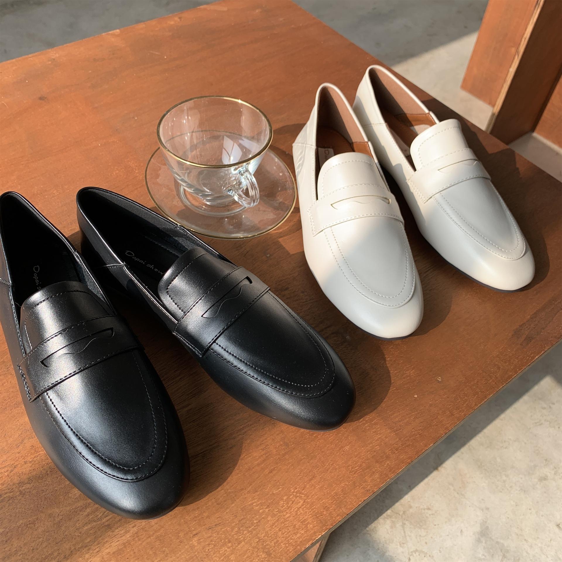 Dapaishow Giày Loafer / giày lười Giày nữ Dapaishow kiểu mới của Anh Tình yêu giày đế mềm đế mềm Già