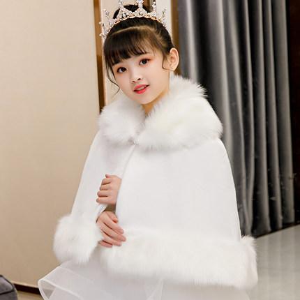 Áo choàng trẻ em  Áo choàng trẻ em công chúa cape cô gái nhỏ khăn choàng mùa đông hoa cô gái váy cướ