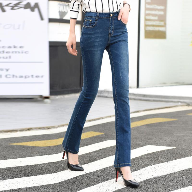 quần Jean 2019 mới mùa xuân và mùa thu quần jean cạp cao của phụ nữ mỏng là quần legging co giãn và