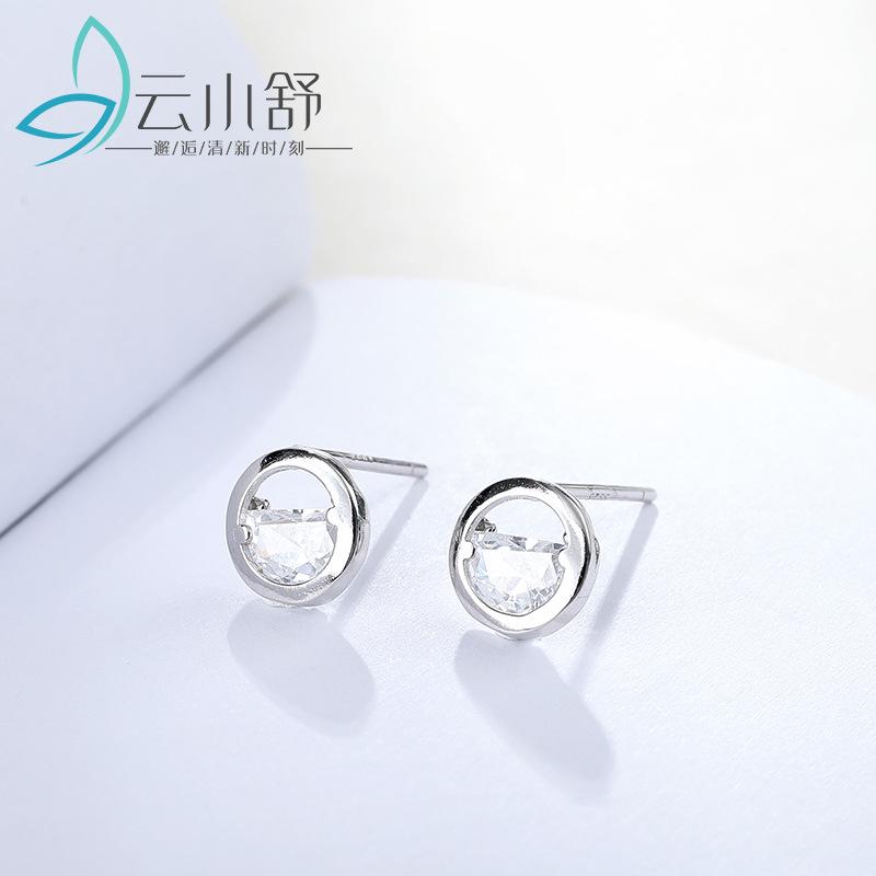 Yun Xiaoshu Phụ kiện thời trang s925 bông tai bạc sterling phụ kiện thời trang nữ Wang Qingquan bông