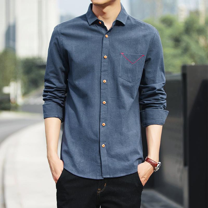 BSGD Áo Sơmi Mùa xuân 2020 hè áo sơ mi cotton mới nam mỏng xu hướng Hàn Quốc áo dài tay áo sơ mi nam