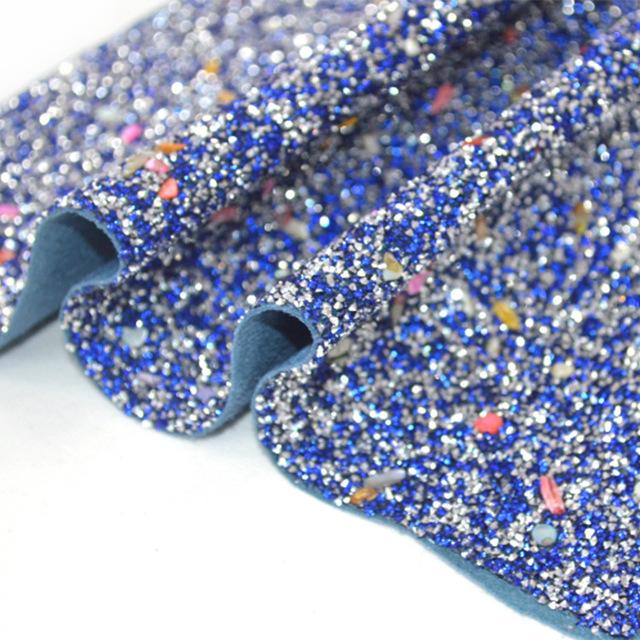 HUAEN Simili tổng hợp MB-H003 Long lanh long lanh vải sequin cung cấp bán buôn da nhân tạo trang trí