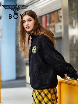 BOY LONDON Sweater (Áo nỉ chui đầu)  BOY LONDON thư thêu áo len thêu đôi mẫu của phụ nữ B195NBT4040