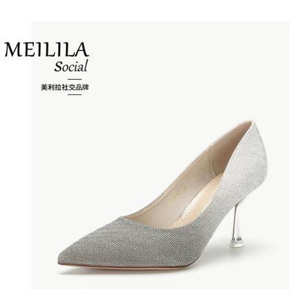 Merila Giày cô dâu  Giày cưới nữ hàng năm họp giày nữ cao gót với 2020 mùa xuân và mùa thu Giày mới