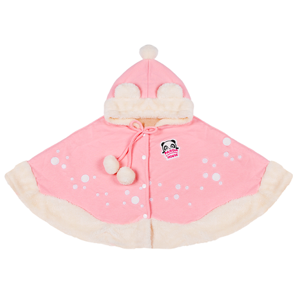 Panda House Áo choàng trẻ em  Sweet Cute Plus Velvet Children Cloak Snow Gift Soft Ấm Shawl Thời tra