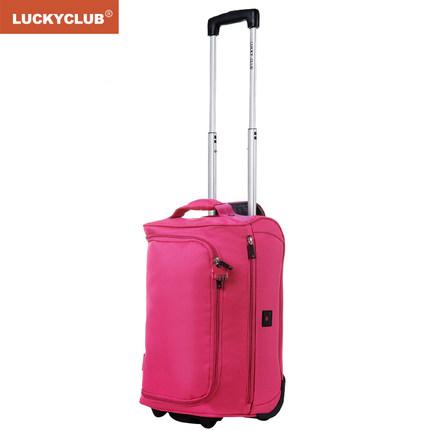 Lucky Club Túi xách du lịch  Lucky Club Xe đẩy Túi du lịch Túi xách Túi nam và nữ Vỏ mềm Nhỏ vải nhẹ