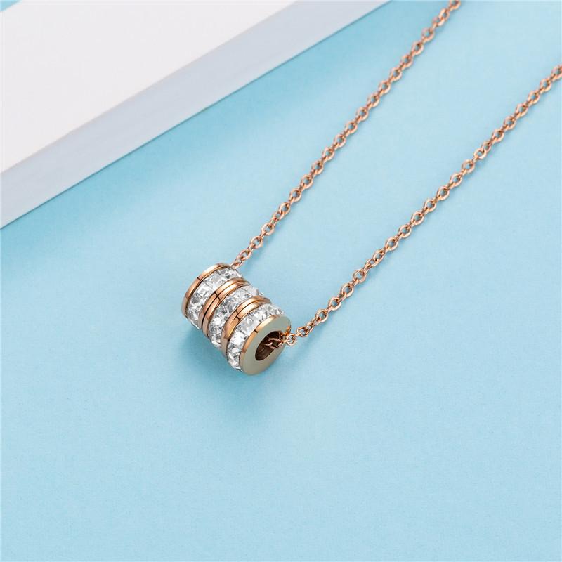 Phụ kiện thời trang Vòng cổ hợp thời trang Phụ nữ đơn giản Chuỗi xương đòn Cá nhân Kim cương Tri-rin