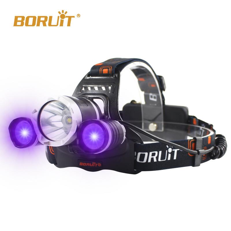 BORUiT Đèn điện, đèn sạc Ánh sáng màu tím Bọ cạp LED USB Đèn pin sạc có thể phát hiện nghiên cứu kho