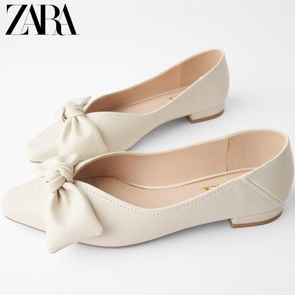 ZARA  giày bệt nữ  Giày nữ ZARA Giày đế xuồng màu nude 15807001002