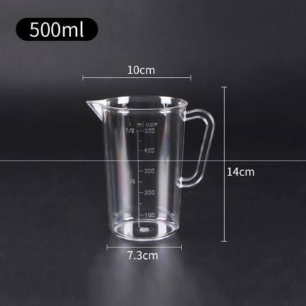 UTSUWA  Dụng cụ đo lường  Xô nhựa có cân, cốc đo trà sữa, dụng cụ đo bình đựng bếp, cốc nước lạnh gi