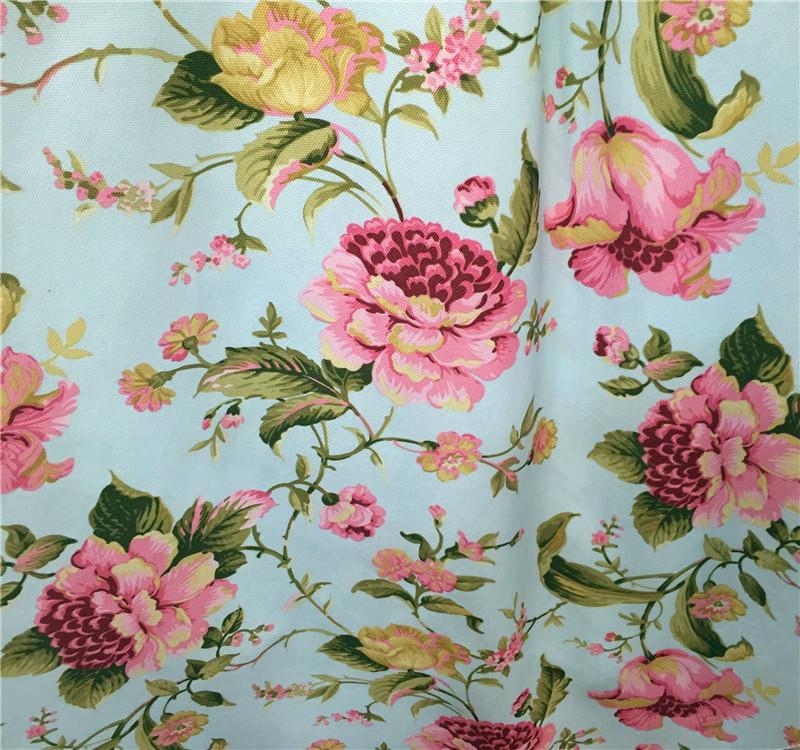 MEIQIU Vải Chiffon & Printing Mục vụ Địa Trung Hải hoa vải sofa in vải lanh Mục vụ Mỹ vải sofa in Kh